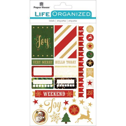 Paper House Life Organized Planner Stickers -Christmas Fun