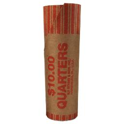 Preformed Tubular Coin Wrappers Quarters $10 1000 Wrappers Per Each Carton   1 Carton of: 1000