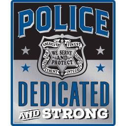 Open road brands 90168455s open road brands emb tin sign police protect & serve 10x12