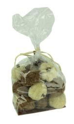 Bag of Natural Brown and Beige Dried Angel Vine Decorative Pumpkins
