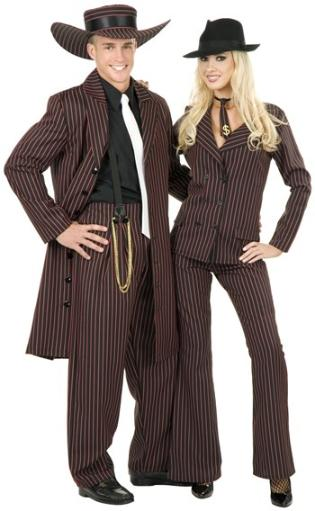 Zoot Suit Adult Costume Black and Pink, Black and Red, Black and White Men L (42-44),Men M (40-42),Men S (36-38),Men XL (46-48),Men 3X (56-60),Men.