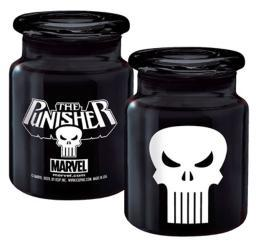 Marvel Punisher Logo Apothecary Jar Frank Castle Daredevil Netfilx 6oz Glass