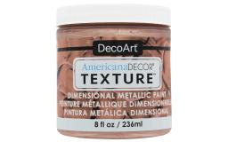 Decadtx-36 103 decoart americana texture metallics 8oz rose gold