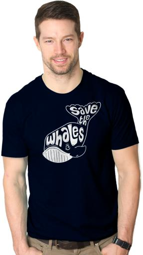 Whale Tail Save the Whales T Shirt Funny Animal Tee Cool Fishing Shirts