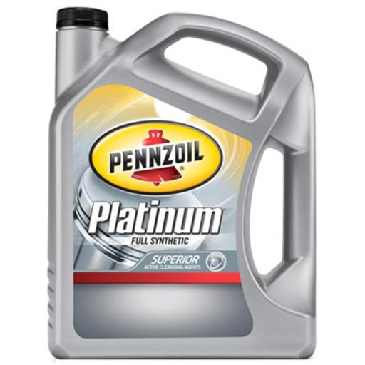 Pennzoil 550038321 Platinum 10W30 Full Synthetic Engine Oil - 5 qt, Pack of 3