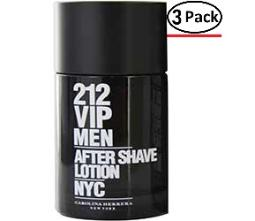 212 VIP by Carolina Herrera AFTERSHAVE 3.4 OZ (Package of 3)