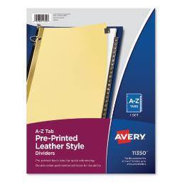 Preprinted Black Leather Tab Dividers W/Gold Reinforced Edge 25-Tab Ltr   Total Quantity: 1