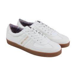 fef05ebbcd Ben Sherman Ashton Field Mens White Leather Lace Up Sneakers Shoes