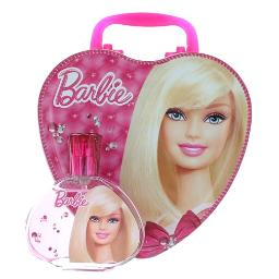 Barbie by Barbie, 3.4 oz EDT Spray for Girls with Metal Lunch Box