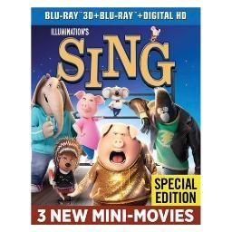 Sing (3d/blu ray/blu ray w/digital hd) (3d) BR61186416