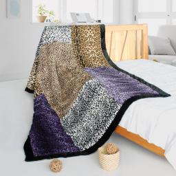 """Onitiva - Nature And Wild Patchwork Throw Blanket  (61""""-86.6"""")"""