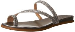 Vince Camuto Womens Evina Fabric Round Toe Casual Slide Sandals