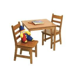 Lipper 514p child's table chair set pecan