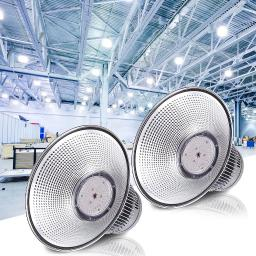 """DELight 2Pcs 150W 18"""" LED High Bay Light 16000lm 6000K-6500K with Heat Sink Factory Industry Lighting Feature"""