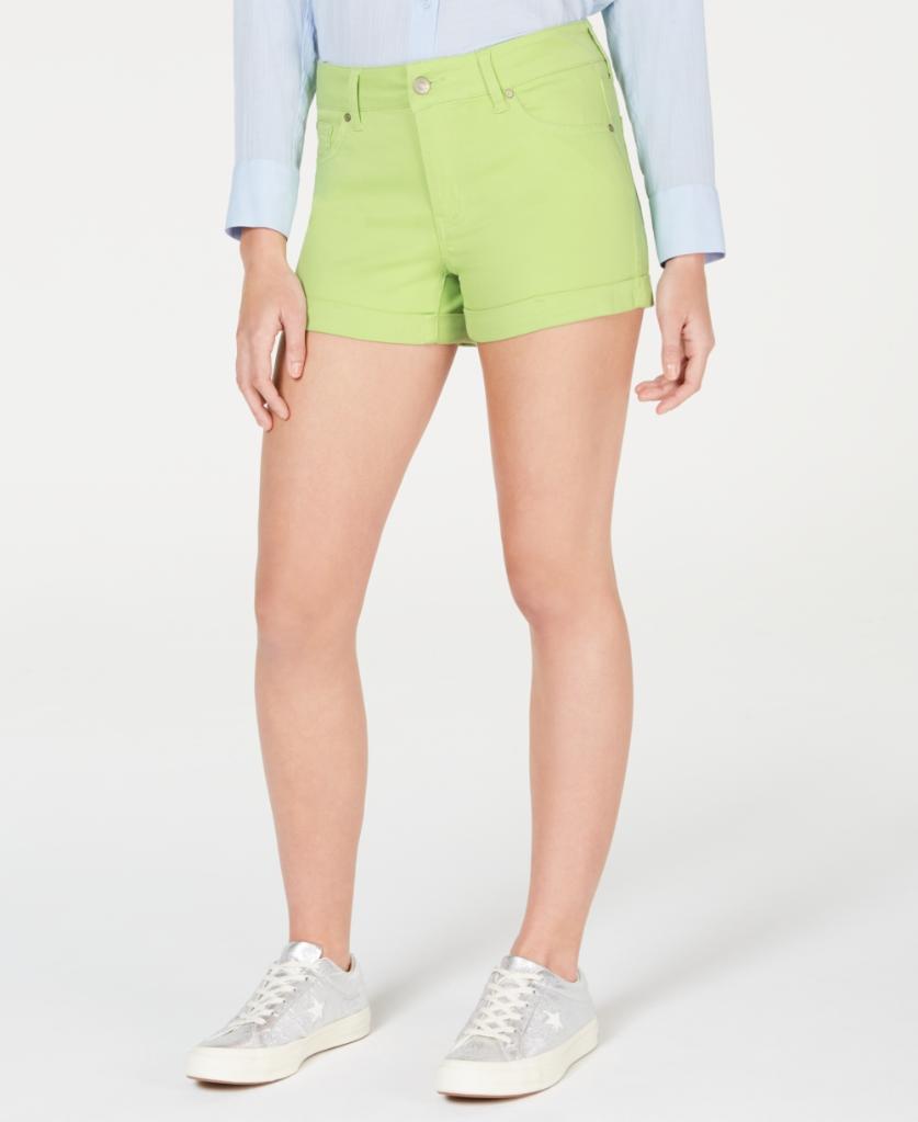 Celebrity Pink Juniors Cuffed Denim Shorts