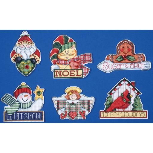 "Signs Of Christmas Ornaments Counted Cross Stitch Kit-3.5""X4"" 14 Count Set Of 6 A6YVBGSJWJWTAYZG"