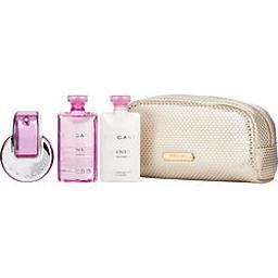 Bvlgari Omnia Pink Sapphire By Bvlgari , Edt Spray 2.2 Oz & Body Lotion 2.5 Oz & Shower Gel 2.5 Oz & Pouch