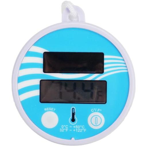Pool Central 32601557 5.5 in. Solar Powered Floating Digital Swimming Pool & Spa Thermometer with Cord