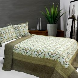 Blooming Flowers Cotton 3PC Vermicelli-Quilted Printed Quilt Set Full/Queen Size
