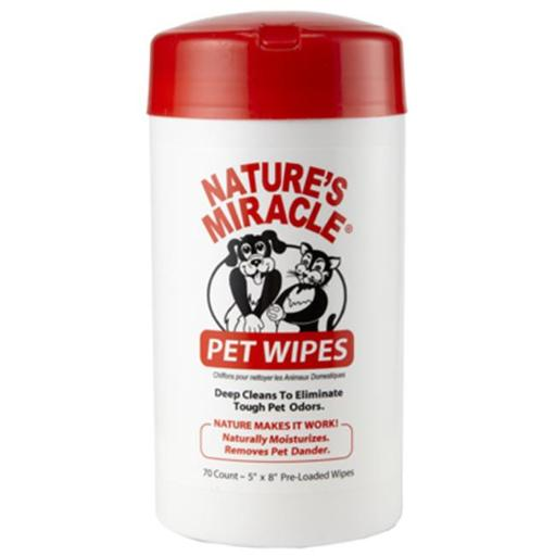 Natures Miracle 5147 5 x 8 in. Pet Bath Wipes, 70 Count 87A67EF9A9866B46