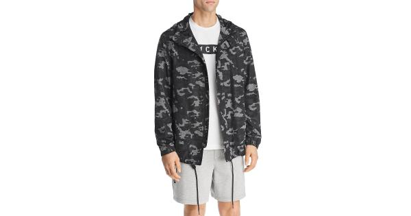 BLACKBARRETT by Neil Barrett Mens Camouflage Mesh Parka Coat