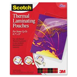 3M TP385450 Letter size thermal laminating pouches  3 mil  11 1/2 x 9  50/pack
