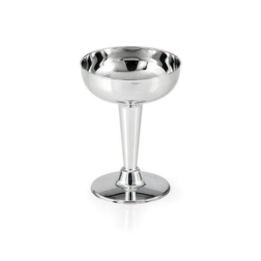 Hoffmaster Group 317595 4 oz Silver Metallic Champagne Coupe, Pack of 12 - 6 Per Pack