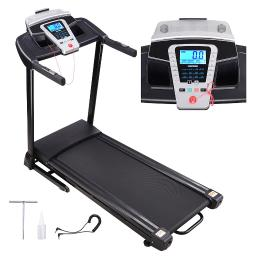 2.25HP Folding Electric Treadmill Motorized Running Walking Machine Speakers LCD