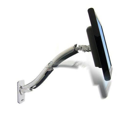 ERGOTRON 45-228-026 ERGOTRON MX WALL MOUNT LCD MONITOR ARM. ERGONOMICALLY SUPPORTS LARGER MONITORS A