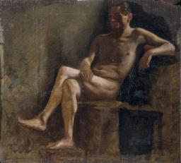 Study For A Male Nude Poster Print EVCMOND075VJ345HLARGE
