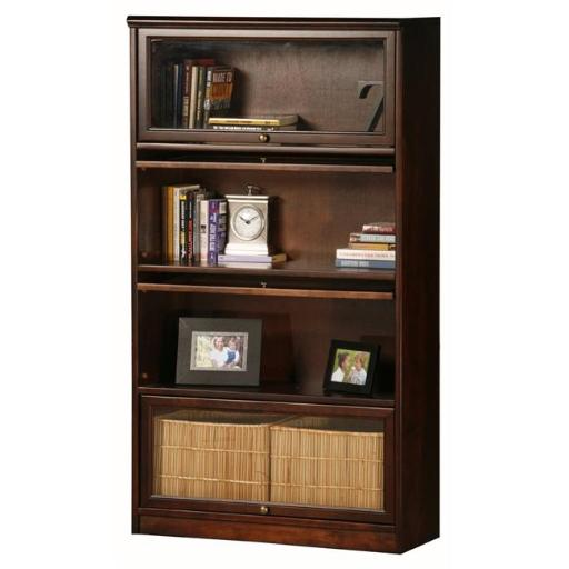 Eagle Furniture 5234PLCY Promo 4-Door Lawyer Bookcase, Cupola Yellow