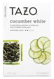 Tazo - White Tea Cucumber - 20 Tea Bags