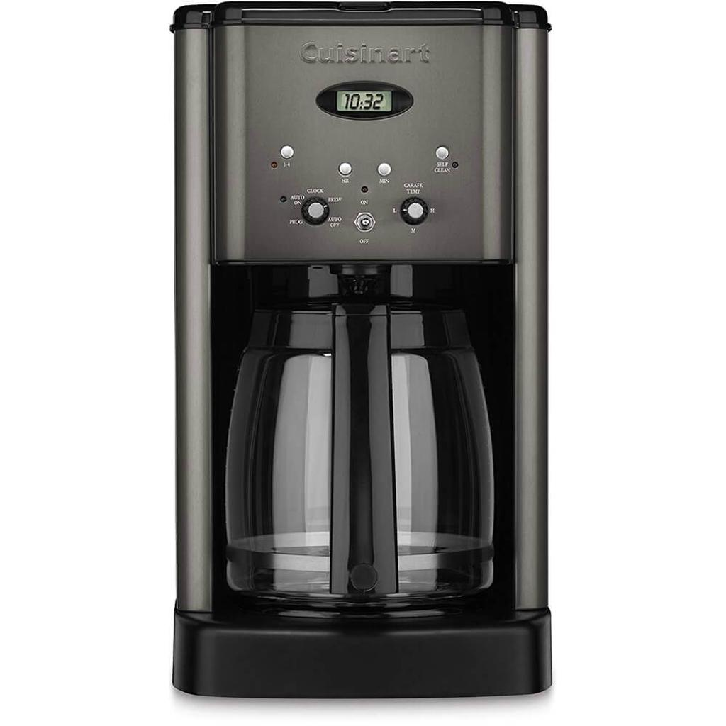 Cuisinart DCC1200BKS Brew Central 12-Cup Programmable Coffeemaker - Black Stainless