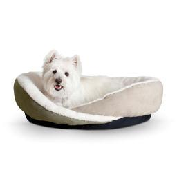 K&H Pet Products 4953 Green / Tan K&H Pet Products Huggy Nest Pet Bed Small Green / Tan 22 X 19 X 6