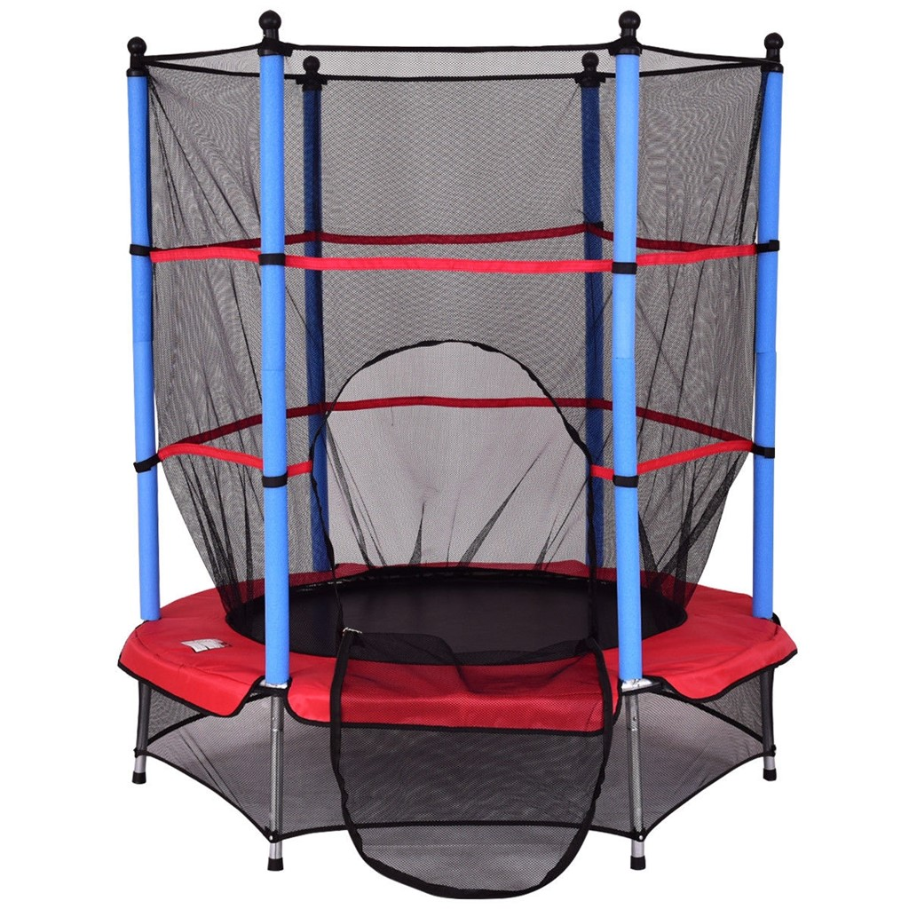 """55 Kids Jumping Trampoline with Safety Pad Enclosure Combo"""""""