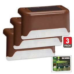 Solar Deck Lights 3 Pack - Solar Powered Outdoor Lights