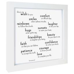"Quotable ""My Wish for you....."" Framed Print 5"" Square"