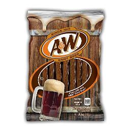 A and W Rootbeer Twists Gummy Candy, 5 Ounce -- 12 per case.