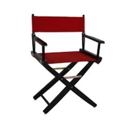 American Trails 206-22-032-11 24 in. Extra-Wide Premium Directors Chair, Black Frame with Red Color Cover