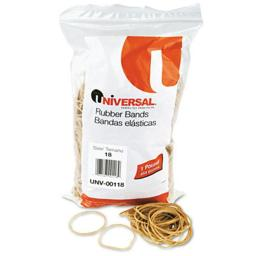 Universal 00118 Rubber Bands- Size 18- 3 x 1/16- 1600 Bands/1lb Pack