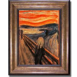Artistic Home Gallery 1114576BR The Scream By Edvard Munch Premium Bronze Framed Canvas Wall Art 1114576BR