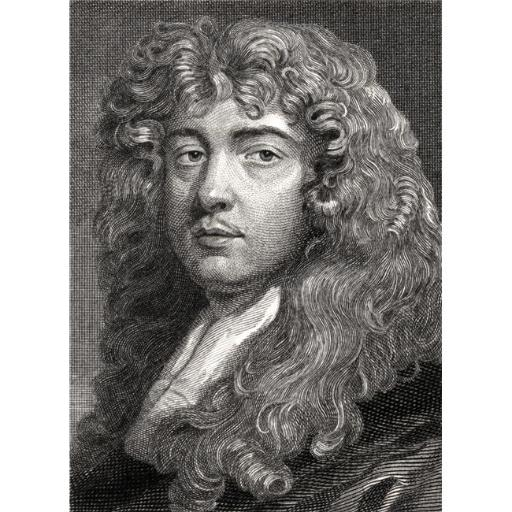 Sir Peter Lely 1618-1680 Dutch & English Baroque Era Painter. Painted by Himself Engraved by William Edwards Poster Print, Large - 26 x 34