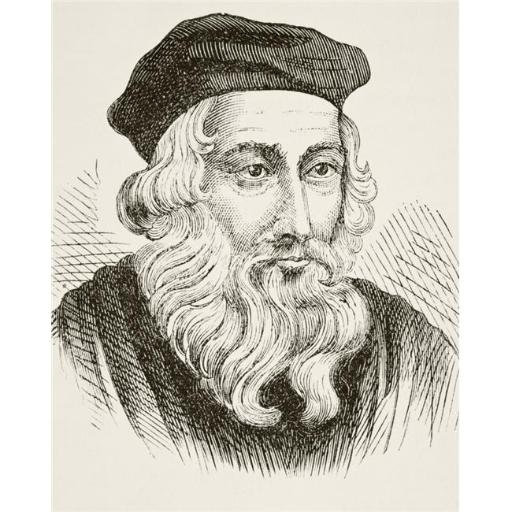 Posterazzi DPI1855734 John Wycliffe Circa 1325 To 1384 English Theologian, Reformist & Translator From The National & Domestic History of England by W