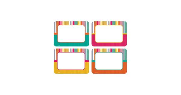 Teacher created resources (3 pk) tropical punch name tags 2684bn These name tags/labels are bigger than ever!The larger writing space comes in handy when using them for name tags, gift tags, or labels for student portfolios and cubbies. 36 name tas per pack, bundle of 3 packs, 108 name tags total.Age: 8+ years.Grade: Grade 3+.Product Series: Name Tags/Labels.Grade: Grade 3+.