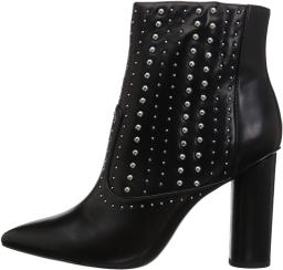 BCBGeneration Women's Hollis Studded Bootie Ankle Boot, Black, 8.5 M US