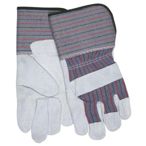 Safety Works 7408933 Universal Large Cowhide Leather Palm Work Gloves, Gray