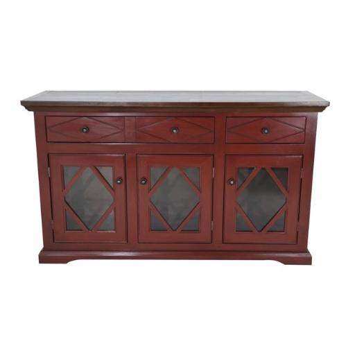 Eagle Furniture SB321755SSCR 55 in. Caribbean Rum Shelter Bay Credenza & Console, Summer Sage