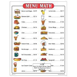Remedia publications menu math for beginners 6pk extra 111b