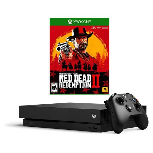 Xbox One X 1TB Video Game Console with Red Dead Redemption 2 Bundle