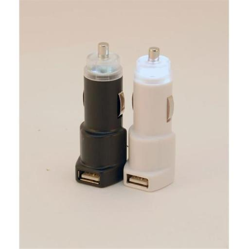 USB Car Charger- White